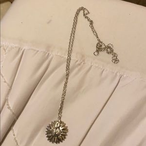 Silver plated sunshine necklace